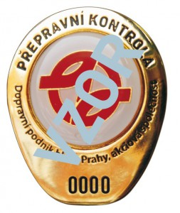 prague public transporation inspection badge
