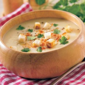 Czech garlic soup