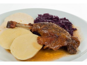 Czech roasted duck